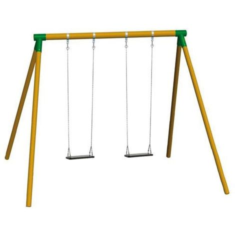 Columpio de madera doble para adultos Masgames FUJI asientos caucho con cadenas