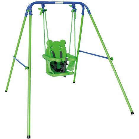 Columpio infantil con asiento de protección 119x110x140 cm (Aktive 54079)