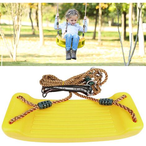 Columpio Jardin Asiento con Cuerda parque infantil para infantil movimiento exterior amarillo