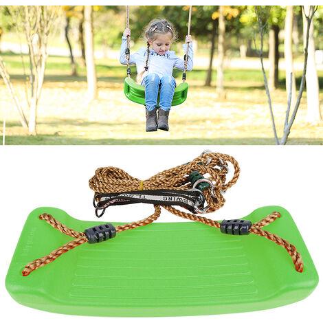 Columpio Jardin Asiento con Cuerda parque infantil para infantil movimiento exterior verde