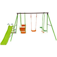 Columpio, tobogan infantil - Parque infantil Ludo - 1.96m - 4 actividades