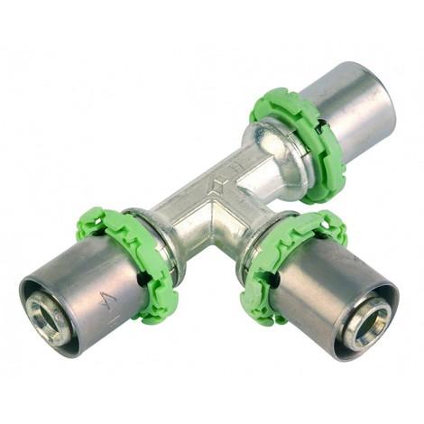 COMAP 733BEB - Té réduit à sertir S7130RV Ø16X2-20X2-16X2mm - 2 pcs
