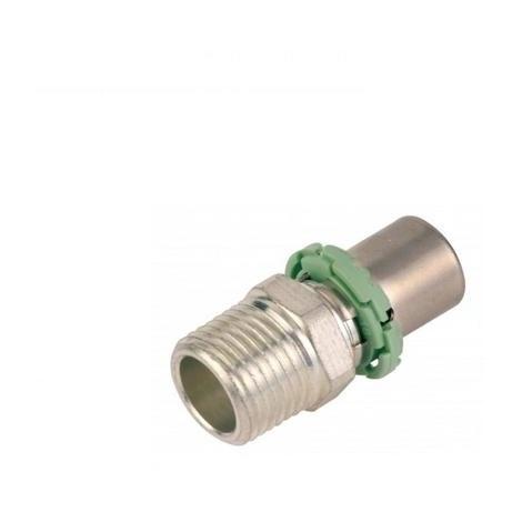 """COMAP 742ECX Manchon (x2) droit mâle à sertir - S7243GV - Ø20x2mm - 1/2"""""""