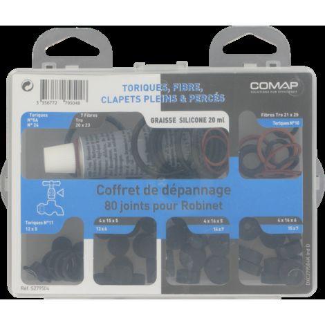 COMAP Coffret de Joints fibre, toriques, clapets pleins, percés… : dépannage pour robinets