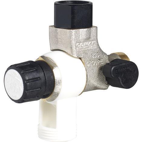 """COMAP Groupe de sécurité 889 Inox coudé pour chauffe-eau, cumulus - 20x27 ou 3/4"""" - 889216"""