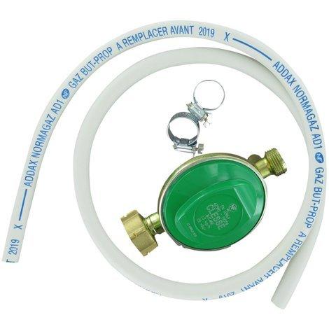 COMAP Kit Butaflex butane/ propane validité 5 ans pour bouteille 13 Kg : détendeur, 1,25m de tube, colliers