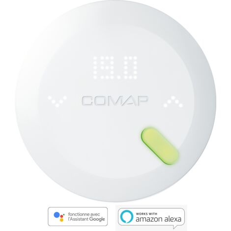 COMAP Thermostat intelligent auto-programmable sans fil COMAP Smart Home, version chauffage électrique (fil pilote)