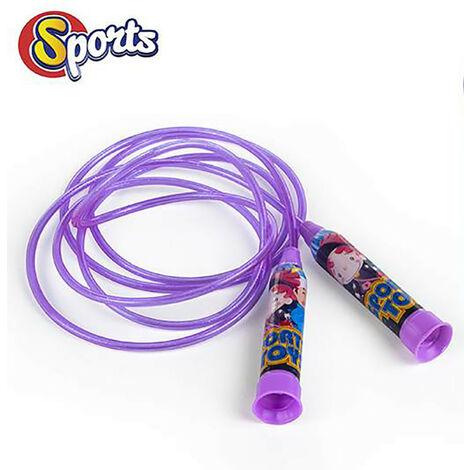 Comba/Cuerda de Saltar Infantil, para Niños. Diseño Divertido, con estilo Alegre - Hogar y Más Morado