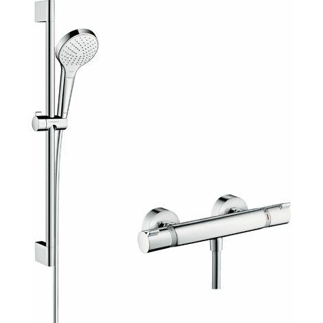 Combi Croma Select S Vario 0,65 m / Ecostat Comfort blanc/chromé