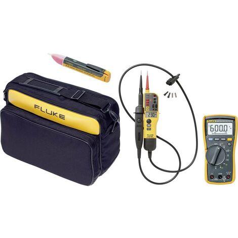 Combi kit Fluke : multimètre 115 + testeur VAT T130 + détecteur de tension 1AC-II + sacoche C 345