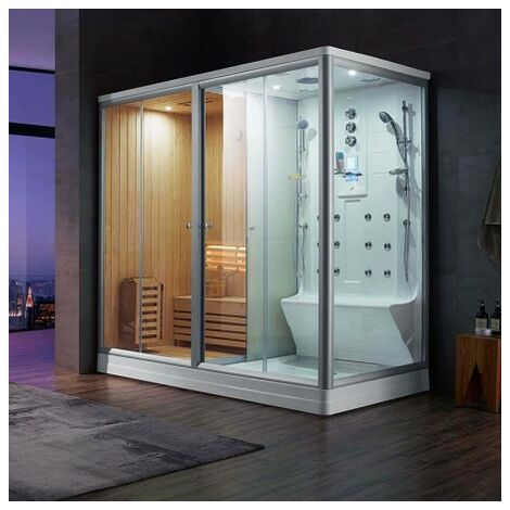 Combi Sauna Douche Hammam Boreal® SH220G - gauche