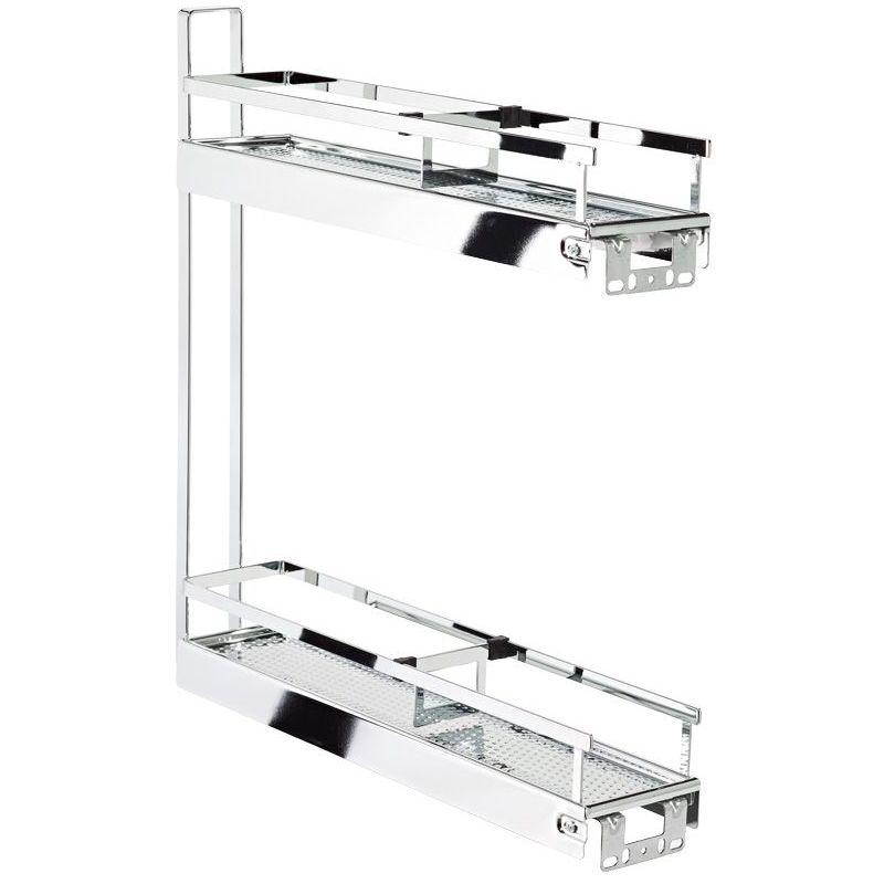 Kesseböhmer - Combiné bas 2 niveaux de 150 - Décor : Chromé - Version : Classic - KESSEBOHMER - Pour caisson de largeur : 150 mm