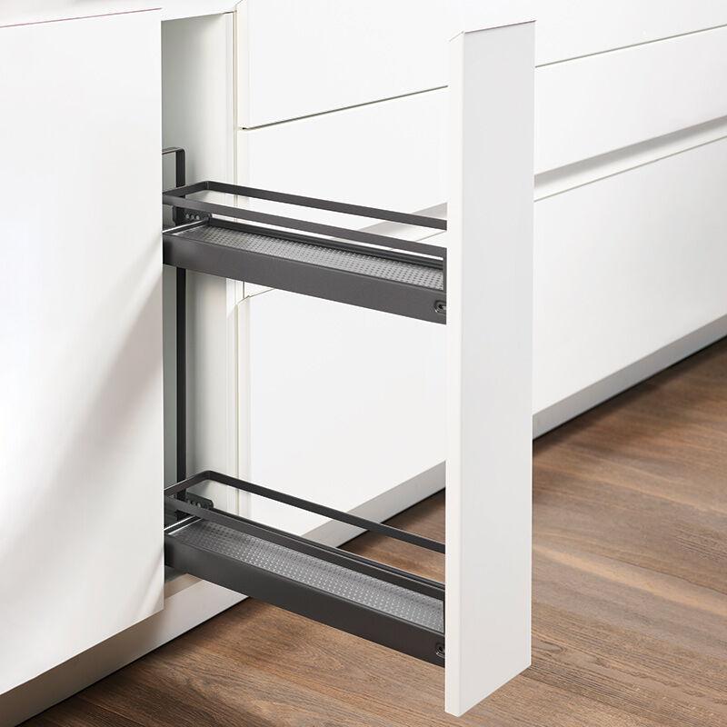 Kesseböhmer - Combiné bas 2 niveaux de 150 - Décor : Anthracite - Version : Style - KESSEBOHMER - Pour caisson de largeur : 150 mm