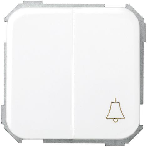 Combinación conmutador + pulsador campana Serie 31 Blanco Nieve