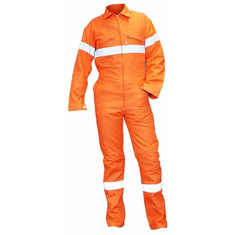 Combinaison 1 zip avec bandes rétro-réfléchissantes - OPALE - Orange