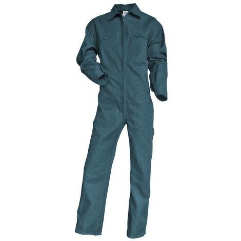 Combinaison 1 zip poly coton vert TASSEAU LMA - plusieurs modèles disponibles