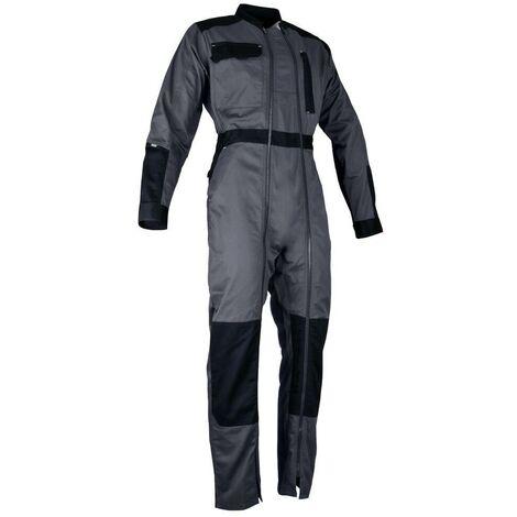 Combinaison 2 zips bicolore - CHLORE - Gris sombre / Noir