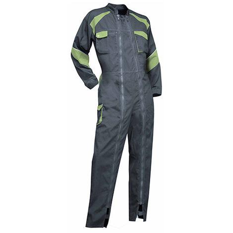 Combinaison 2 zips bicolore femme - ORGE - Gris / Vert