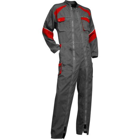 Combinaison 2 zips poly coton gris LUZENE LMA - plusieurs modèles disponibles
