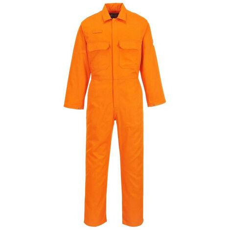 Combinaison Bizweld Retardateur de flammes Portwest Orange M