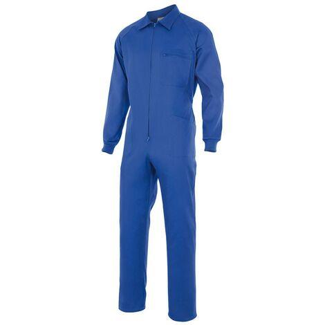 Combinaison bleu de travail traditionnel 65% polyester 35% coton 190 gr/m2 - Bleu Azur - 21600 - Vertice laboral