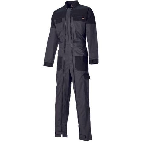 Combinaison de travail Dickies GRAFTER DUO TONE 100% coton Gris / Noir