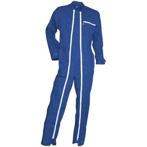 Combinaison de travail double zip LMA Crocq Bleu