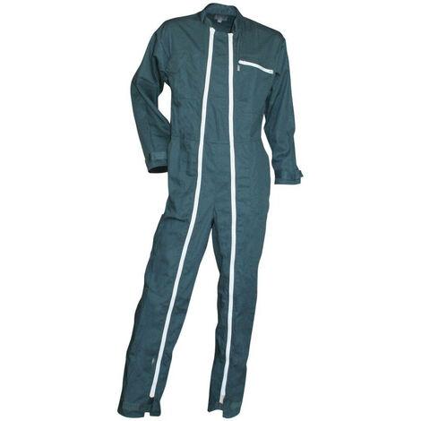 Combinaison de travail double zip Verte Homme FUSIBLE LMA Vert Foncé 3XL