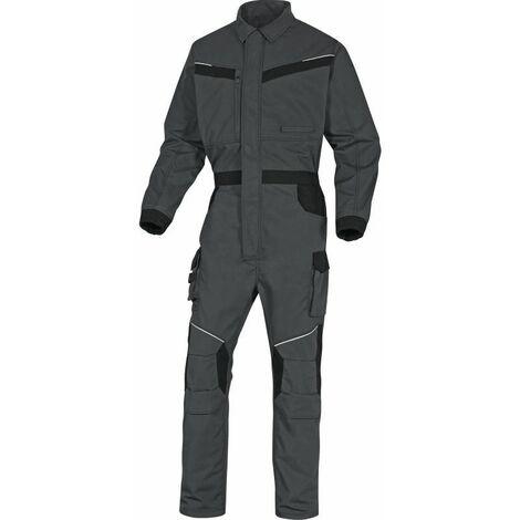 COMBINAISON DE TRAVAIL MACH2 CORPORATE EN POLYESTER / COTON RIPSTOP GRIS NOIR DELTA PLUS- MCCO2GN0 - Taille vêtement - 42/44 (L)
