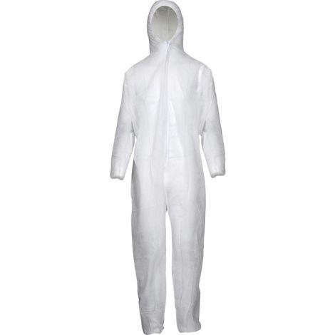 Combinaison jetable PP50 g/m2 Taille L blanc