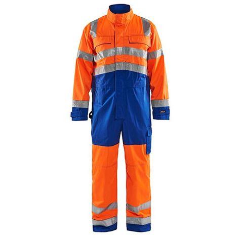 Combinaison manches longues haute-visibilité - 5385 Orange fluo/Bleu roi - Blaklader