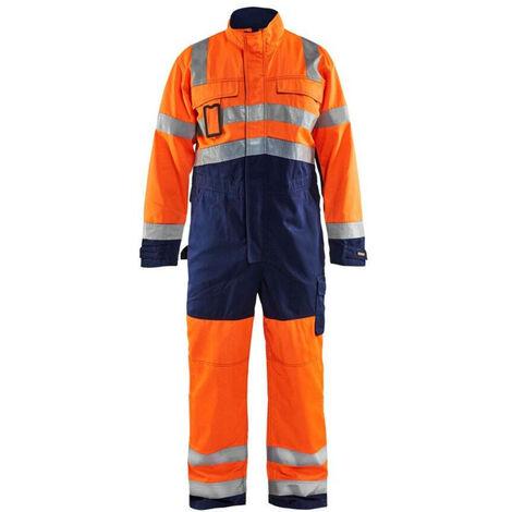 Combinaison haute visibilité Blaklader polycoton Orange / Marine 44