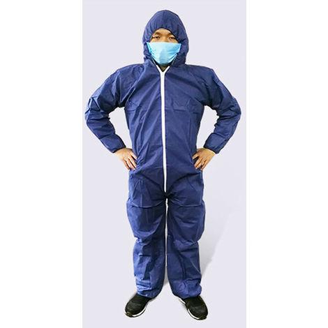 Combinaisons Jetables Respirantes De Protection, Navy Blue