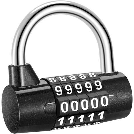 Combination combination lock, 5-digit combination padlock, waterproof anti-rust, security padlock for locker, toolbox, fencing, bicycle, etc.