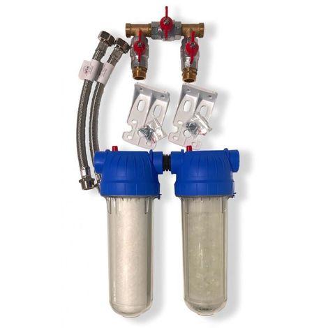 Combine antitartre filtration avec bypass - TWIN-FILTRE BYPASS