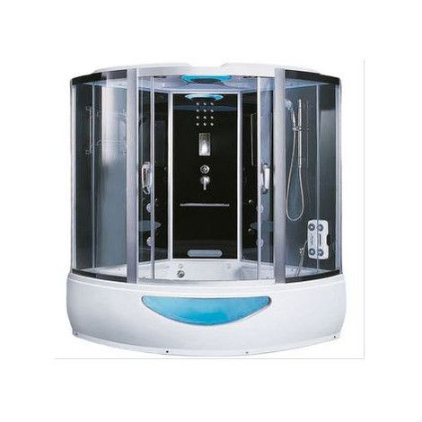 Combiné baignoire-douche EXCLUSIVE avec hammam et balnéo, 150x150x220 cm