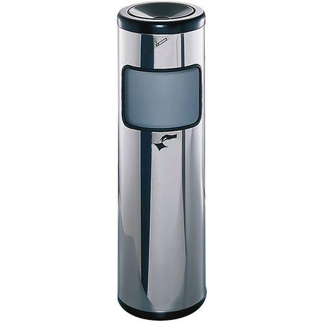 Combiné cendrier-poubelle, hauteur 800 mm capacité 34 litres - Coloris des cendriers: Inox