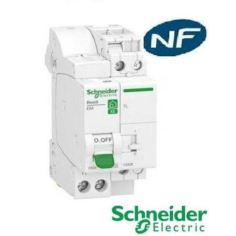 SCHNEIDER Resi9 XE combin/é disj+t/él/érupteur 1P+N 10A courbe C embrochable SCHNEIDER R9ECL610 SCH-R9ECL610