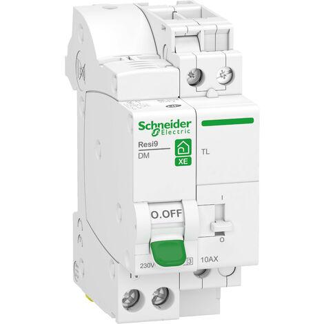 """main image of """"combiné disjoncteur + télérupteur Schneider Electric 1P+N 10A courbe C embrochable Resi9 XE"""""""
