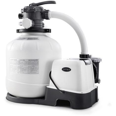 Combiné groupe de filtration à sable 8 m³/h + stérilisateur au sel + système OEC - Intex