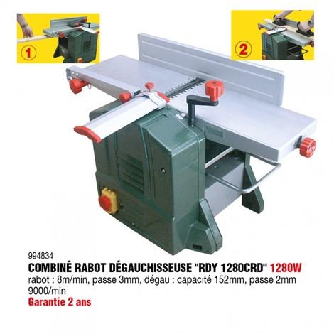 Combiné Rabot Dégauchisseuse Type Rdy 1280 Crd Rondy