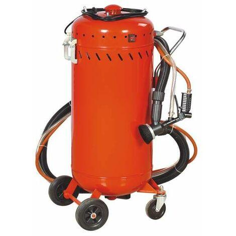 Varan Motors - NESB-07 Combiné Sableuse mobile 106 litres 0-10 Bars avec Aspirateur de récupération - Rosso