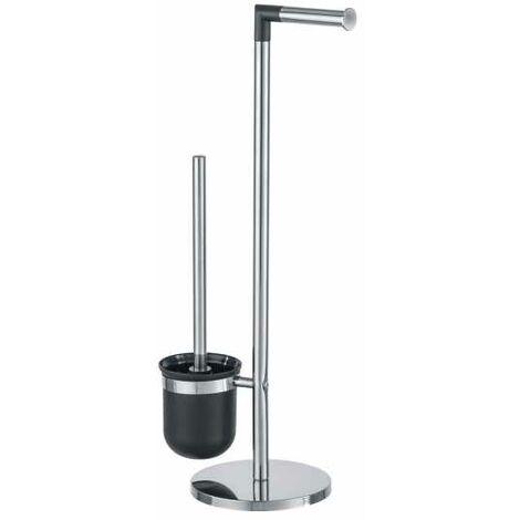 Combiné WC 2en1, Brosse WC et dérouleur papier toilette, Parus, Acier inox