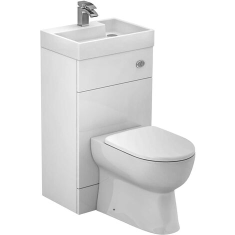 Combined Two in One Wash Basin and Toilet Vanity Unit
