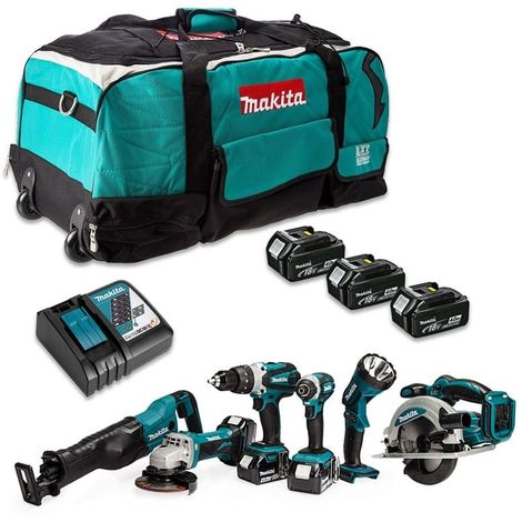 Combopack de 6 machines 18V (3x4.0 Ah) dans sac de transport - Makita DLX6045M