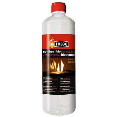 Combustible Chimenea-bio Liq Origen Natural Ok Fuego 1 Lt
