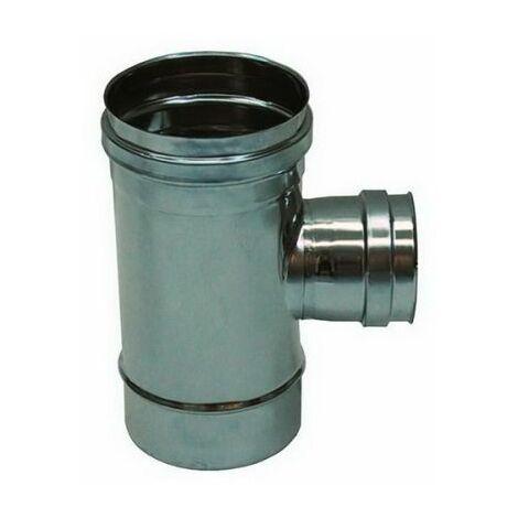 combustion dn 150 tee montage 90 ° réduites dn 80 conduit de fumée femelle 316 en acier inoxydable INOX