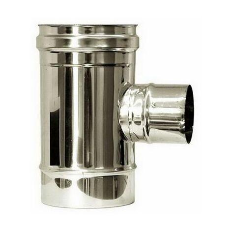 combustion dn 150 tee montage 90 ° réduites dn 80 tuyau de cheminée 316 en acier inoxydable INOX
