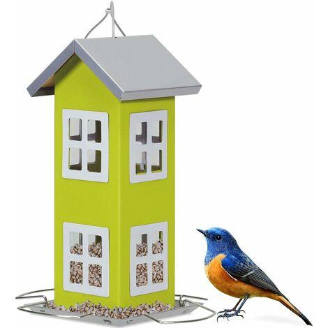 Comedero Colgante para Aves Alimentador de Pájaros 26x12x12cm para Jardín Patio Alféizar Exterior