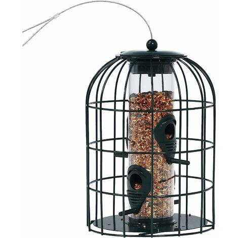 Comedero Colgar para Pájaros Estación de alimentació con Alambre de Acero Inoxidable para Jardín Patio 17,5x17,5x26 centímetros